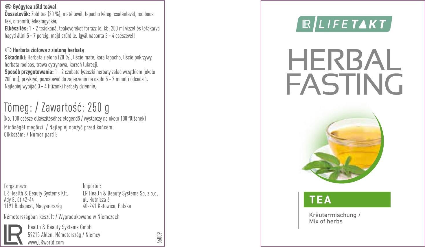 herbal fasting etykieta